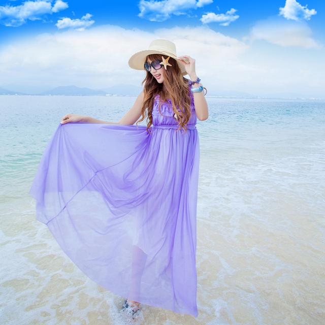 手绘浅蓝色婚纱